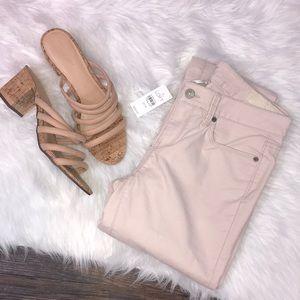 NWT LOFT light pink corduroy modern straight pants